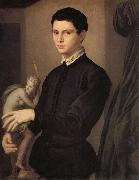 Agnolo Bronzino Portrait d'un sculpteur on d'un jeune amateur oil painting picture wholesale