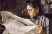 Anders Zorn Emma Zorn reading oil painting picture wholesale