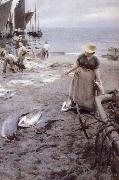 Anders Zorn Fiskmarknad i St Ives oil painting picture wholesale