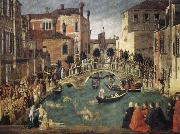 BELLINI, Gentile Miracle of the True Cross oil painting picture wholesale
