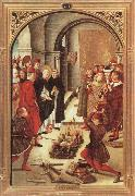 BERRUGUETE, Pedro Scenes from the Life of Saint Dominic:The Burning of the Books oil painting picture wholesale