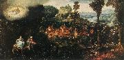 BLES, Herri met de The Flight into Egypt oil painting artist