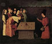 BOSCH, Hieronymus The Conjurer oil painting artist