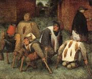 BRUEGEL, Pieter the Elder The Beggars oil painting picture wholesale
