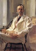 Cecilia Beaux Man with the Cat Portrait of Henry Sturgis Drinker oil