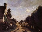 Corot Camille Une Route pres d'Arras oil painting picture wholesale
