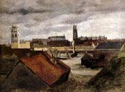 Corot Camille Dunkerque,les bassins de peche oil painting picture wholesale