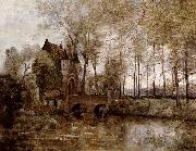 Corot Camille Le Chateau de Wagnonville oil painting picture wholesale