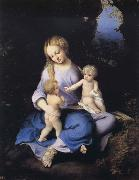 Correggio Madonna and Child with the Young Saint John oil painting artist