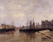 Desavary Charles L'Arriere-port de Dunkerque oil painting picture wholesale