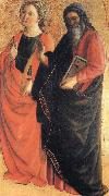 Fra Filippo Lippi St.Catherine of Alexandria and an Evangelist oil painting picture wholesale