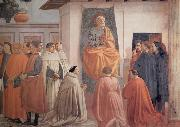 Fra Filippo Lippi Masaccio,St Peter Enthroned with Kneeling Carmelites and Others oil painting picture wholesale