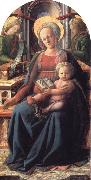 Fra Filippo Lippi Madonna and Child Enthroned with Two Angels oil painting picture wholesale