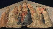 Fra Filippo Lippi Madonna of Humility with Angels and Carmelite Saints oil painting picture wholesale