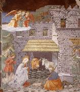 Fra Filippo Lippi The Nativity and Adoration of the Shepherds oil painting picture wholesale