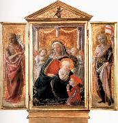 Fra Filippo Lippi Madonna of Humility with Angels and Donor,St john the Baptist,St Ansanus Cambridge,Fitzwilliam Museum. oil painting picture wholesale