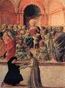 Fra Filippo Lippi Madonna and Child with Angels,Saints and Donor oil painting picture wholesale