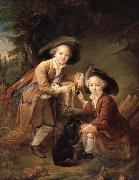 Francois-Hubert Drouais The Comte and chevalier de choiseul as savoyards oil painting artist