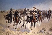Frederic Remington Dismounted:The Fourth Trooper Moving the Led Horses oil painting picture wholesale
