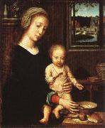 Gerard David The Virgin with the Bowl of Milk oil painting picture wholesale