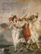 Giambattista Tiepolo Pulcinella in Love oil painting picture wholesale
