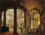 Giovanni Migliara Interior of Basilica of San Lorenzo oil painting picture wholesale