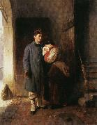 Girolamo Induno Departure of t he Conscript oil painting artist