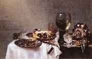 HEDA, Willem Claesz. Breakfast Table with Blackberry Pie oil painting picture wholesale