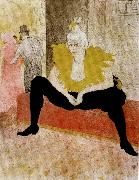 Henri  Toulouse-Lautrec The Seated Clowness oil painting picture wholesale