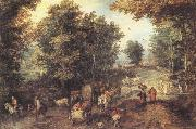 Jan Brueghel The Elder Landscape with a Ford oil painting picture wholesale