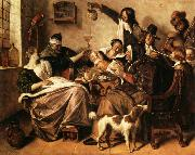 Jan Steen As the Old Sing.So Twitter the Young oil painting picture wholesale
