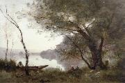 Jean Baptiste Camille  Corot THe boatman of mortefontaine oil painting picture wholesale