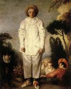Jean-Antoine Watteau Gilles or Pierrot oil painting picture wholesale