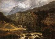 Johan Christian Dahl Alpine Landscape oil painting picture wholesale