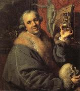 Johann Zoffany Self-Portrait with Hourglass oil painting picture wholesale