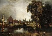 John Constable Dedham Lock and Mill oil painting picture wholesale