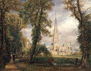 John Constable Salisbury cathedral from the bishop's garden oil painting picture wholesale