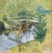 John Henry Twachtman The White Bridge oil painting artist