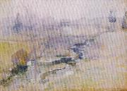 John Henry Twachtman End of Winter oil painting artist