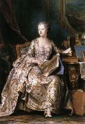 LA TOUR, Maurice Quentin de Portrait of Madame de Pompadour oil painting picture wholesale