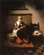 MAES, Nicolaes A Young Woman Sewing oil painting picture wholesale