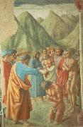 MASACCIO The Baptism of the Neophytes oil painting picture wholesale