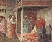MASOLINO da Panicale Healing of the Cripple and Raising of Tabatha oil painting picture wholesale