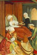MASTER of the Pfullendorf Altar The Birth of Mary oil painting picture wholesale