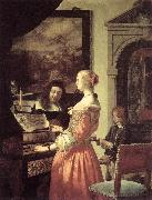MIERIS, Frans van, the Elder Duet oil painting picture wholesale
