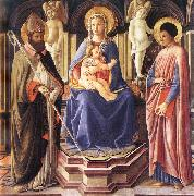 Master of The Castello Nativity Madonna and Sts Clement and Just oil painting picture wholesale