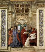 Melozzo da Forli Sixtus IV Founding the Vatican Library oil painting picture wholesale