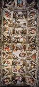 Michelangelo Buonarroti Ceiling of the Sistine Chapel oil painting artist