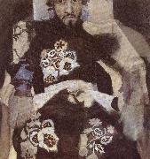 Mikhail Vrubel Portrait of a Man in period costume oil painting picture wholesale