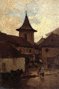 Nicolae Grigorescu Baratia Catholic Church of Campulung oil painting picture wholesale